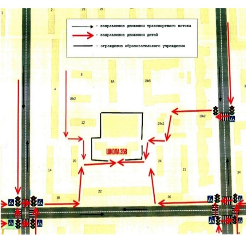 Схемабезопасногомаршрутадвиженияуч сяВаршавская