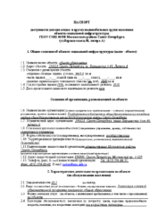 Паспорт доступности Варшавская 40