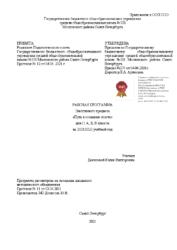 Рабочая программа элективного предмета 11 АБВ Путь к созданию текста Денисова Ю.В.