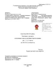 Рабочая программа элективного предмета 11А Актуальные вопросы изучения обществознания Будаев А.А.
