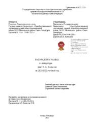 Рабочая программа по литературе для 9АБВ